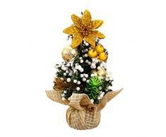 20cm Árboles de navidad Adorno Decoración de Mesa Hogar / 3 Colors ,Longra (Oro)