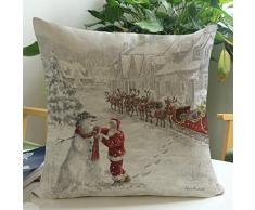 Funda Cojines,Xinan Elk Navidad Decoración del Hogar Fundas Colchón (B)