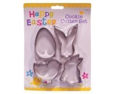 4 x Cuchillos De Pastelería Y Pastelería De Huevos De Pascua - Huevo Pollo Y Conejitos