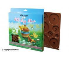 FaisTonGateau 3D Chocolate molde para huevos de Pascua