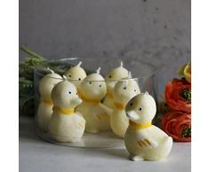 Patito Vela Decoración Pascua 7 pieza estearina Amarillo Oster Vela