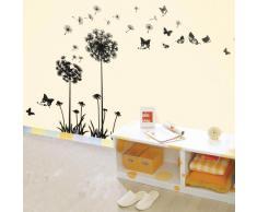 Walplus - Pegatinas decorativas para pared despegables, diseño de dientes de león (50 x 70 cm)