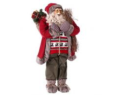 Papá noel de Navidad clásico rojo de resina para decoración navideña Christmas