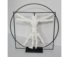 Leonardo Da Vinci la Vitruvio Mensch CA (. 1490) Escultura de plástico personaje DAV01