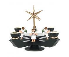 DREGENO Seiffen 201/050/5E – Candelabro de Adviento, madera, color verde oscuro, 19 x 19 x 19 cm