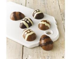 Lakeland – 6 diseño de Huevos de Pascua moldes para Chocolate (Silicona, Amarillo
