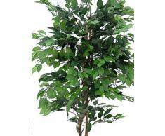 Ficus benjamina artificial con 1550 hojas, verde, 180 cm - planta artificial / árbol sintético - artplants