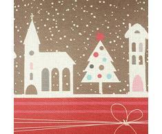Ruikey lino de Navidad Decoración para el Hogar Sofá cintura Throw fundas de cojines regalo de la decoración 44 × 44cm Silla de oficina Urban Square Fundas