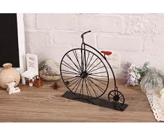 Rubility® Adornos creativos artesanía de metal de forma de bicicleta pequeña Decoración de mesa Decoración del hogar Regalo para cumpleaños/niños/amores/fiestas/Navidad
