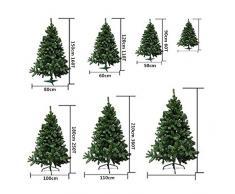 Árbol de Navidad artificial de pino verde Envio Gratis* C/Copos de nieve y soporte metálico 120cm-210cm (120CM 110 RAMAS)