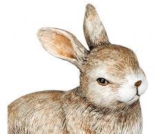 dekojohnson - Figura Decorativa de Conejo de Pascua, Figura de jardín, decoración de Pascua, Color marrón Natural, Sentado, 16 cm