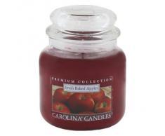 Caroline velas fresh Baked diseño de manzanas de cristal para velas en tarro, rojo