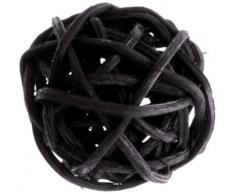 Artificiales – Bolas de ratán negro x 12, diámetro 3 cm).