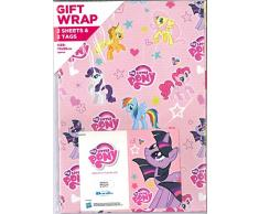 My Little Pony MP023 - Papel de regalo y etiquetas, diseño de poni