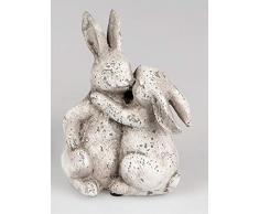 dekojohnson - Figura Decorativa de Conejo de Pascua (19 x 25 cm, Incluye Tarjeta de Regalo)