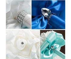 Cosanter - Ramo de flores para decoración de boda, para novia, con rosas artificiales, hecho a mano