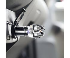 Purificador del Aire del Coche Auto Limpiador de Aire Mini Ambientador Portátil Coche Ionizador Filtro de Aire, Eliminar el Polvo Polen Humo PM2.5 Desinfección Esterilización Descomponer Formaldehído Benceno Olor - Ideal para