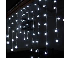 Fuloon - 2M x 1m104 pcs LED Lámpara Luz Partido al aire libre Interior para Decoracion Hogar Casas Navidad Fiestas Bodas (Blanco)