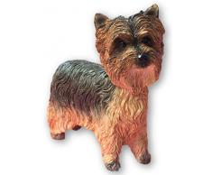 Leonardo Collection Figura Decorativa de Yorkshire Terrier Perro, Piedra, marrón
