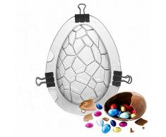 WULEI 2019 3D Huevos de Pascua Fabricante de Moldes de Chocolate Huevos de Dinosaurio Moldes para Pasteles Vacaciones Boda Cumpleaños DIY Decoración de Pasteles Herramientas para Hornear