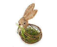 HEITMANN DECO - Cesta para Conejos con Hierba, Cesta de Pascua, Nido de Pascua, Hierba de Pascua, Pascua, para Rellenar, Regalar, decoración