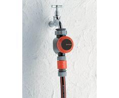 Gardena Temporizador de riego reloj automático de riego para grifos 26,5 mm (G 3/4) o 33,3 mm (G1), duración flexible de riego (5-120 min), sistema de conexión rápida (1169-20)