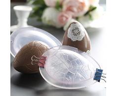 """nelnissa DIY de Pascua huevos de Chocolate moldes apto para uso alimentario Gel de sílice Material fácil de desmontar y limpiar -40 ℉ a 446 ℉ Temperatura Resistencia 6.3 * 4.53 * 2.68 """""""