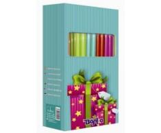 EXP 50 ROLLOS PAPEL REGALO KRAFT COLORES SURTIDOS 70X150CM