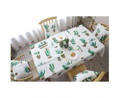 Chytaii Mantel Navidad Pascua Tela Mantel de Mesa Antimanchas Rectángulo de Lino Decoracion Hogar para la Fiesta de Navidad Mantel Individual Estampado Patrón de Cactus Cuatro Tamaños