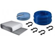 Buderus calefacción por suelo radiante paquete de plástico tubo de aislamiento 30-3 mm grapadora de sistema, superficie§Buderus suelo radiante paquete: 24 M²