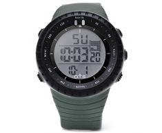 Leopard Shop OTS 7005 Hombres Digital LED reloj deportivo Alarma Calendario Cronógrafo Diaplay Correa de caucho Resistente al agua reloj de pulsera # 6
