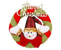 Petalum Corona de Navidad Corona de Adviento Navideña Merry Christmas Decoración de Navidad