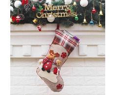 thematys Calcetín de Navidad Medias para Rellenar y Colgar en 10 diseños Diferentes - la decoración navideña (3)