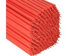 NKlaus 36322 - Velas de Pascua (190 g, 28 cm, sin goteo), color rojo