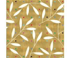 Caspari Inc. - Papel de regalo, diseño de hojas, color dorado