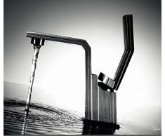 DeLanwa Fj J Jensen 607941 - Grifo mezclador para lavabo (acero inoxidable)