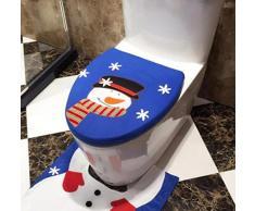 ✽Internet✽ Decoración de la Navidad del muñeco de nieve cubierta de la tapa WC individual