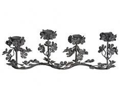 Corona de adviento - Pretty excepcionales Adeventskranz con 4 soportes para velas + 4 velas de aire antiguo y-look