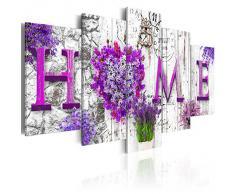 Cuadro en Lienzo 200x100 cm - 3 tres colores a elegir - 5 Partes - Formato Grande - Impresion en calidad fotografica - Cuadro en lienzo tejido-no tejido - Home flores 020115-79 200x100 cm B&D XXL