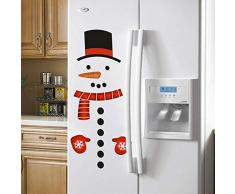 Navidad Muñeco De Nieve Nevera Calcomanía Refrigerador Pegatinas, Ventana Novedad Divertido Vacaciones Decoración Navideña
