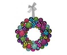 Spetebo Bolas navideñas para Puerta Corona 30 cm – Bola de Navidad Corona Decorativa Corona de Adviento Corona