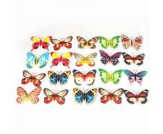 Anself 20pcs 10cm Mariposa Artificial Luminosa Imán para la decoración de la boda de la Navidad