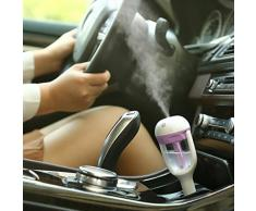 Malloom® Portátil Auto mini coche Humidificador purificador de aire ambientador de coche del recorrido (morado)