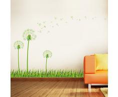Walplus JP-PYVD-G10V - Pegatina de pared fosforescente, diseño flor diente de león