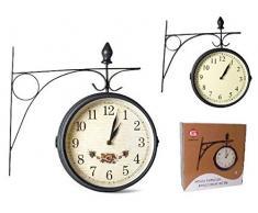 Reloj Pared Estacion 20cm Metal Surtido A Elegir 1