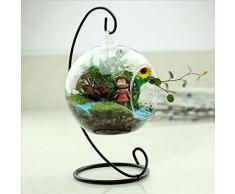 Kicode colgando Ronda florero de cristal Con 1 agujero Para el hogar o la boda
