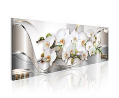murando® Cuadro en Lienzo 135x45 cm - 3 tres colores a elegir - 1 Partes - Formato Grande - Impresion en calidad fotografica - Cuadro en lienzo - flores orquidea abstraccion b-A-0086-b-b 135x45 cm