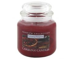 Caroline velas 425 G se desplazan por Granada de cristal para velas en tarro, rojo