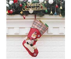 thematys Calcetín de Navidad Medias para Rellenar y Colgar en 10 diseños Diferentes - la decoración navideña (2)