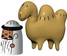 Alessi AMGI23SET Amir and Camelus - Figuras decorativas de camello y beduino
